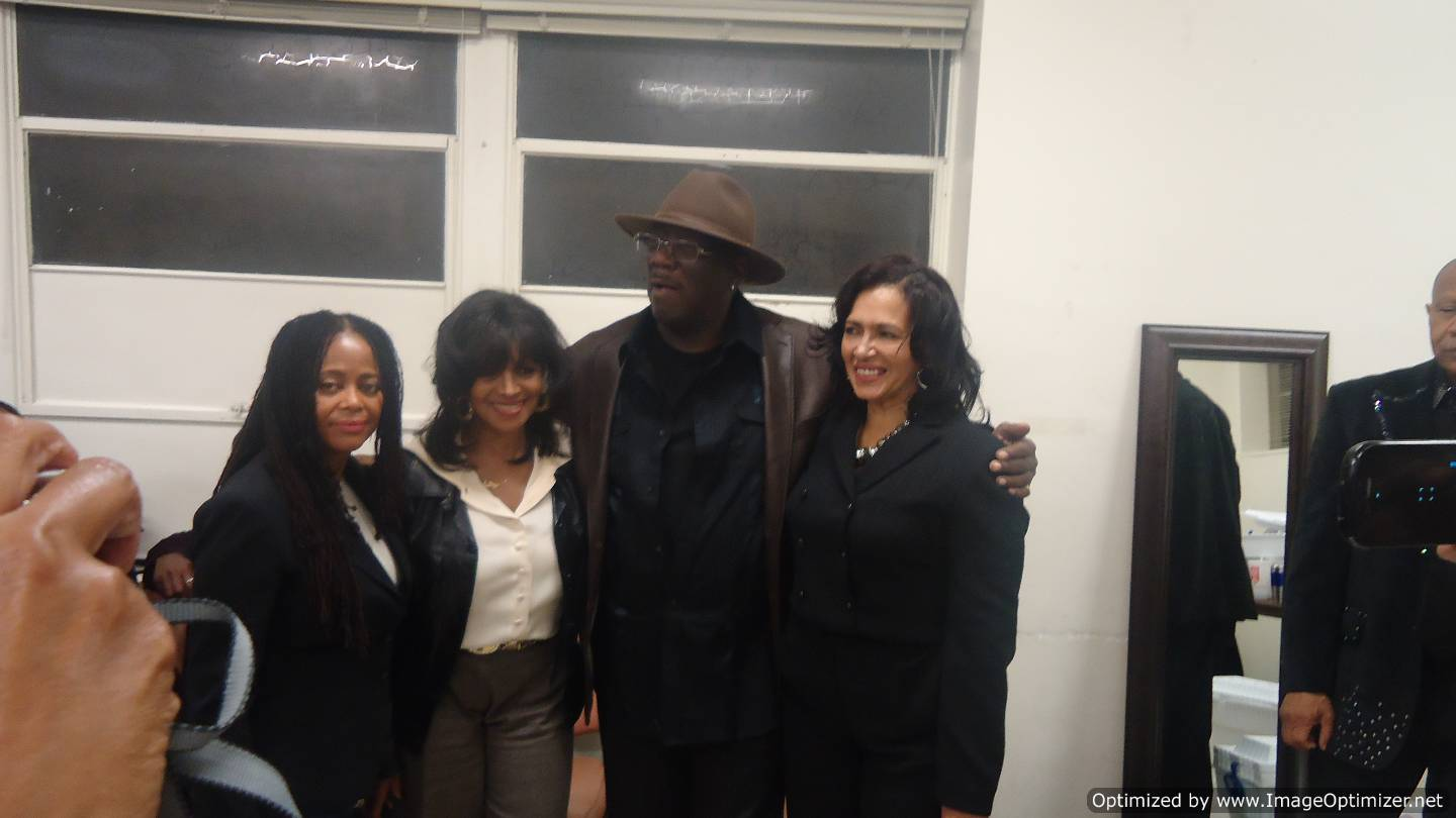 Hazel Gordy(L) with Rebbie Jackson, Greg Williams of Switch and Bunny DeBarge.