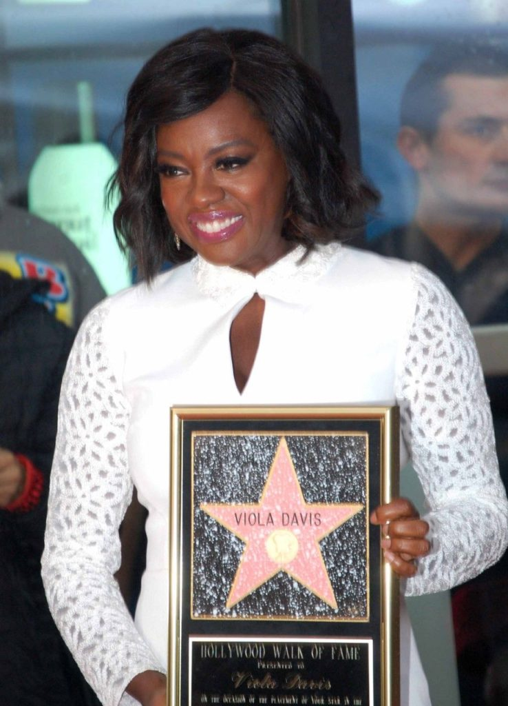 Viola Davis receives her star on the Hollywood Walk of Fame. Photo by Kim Webster.