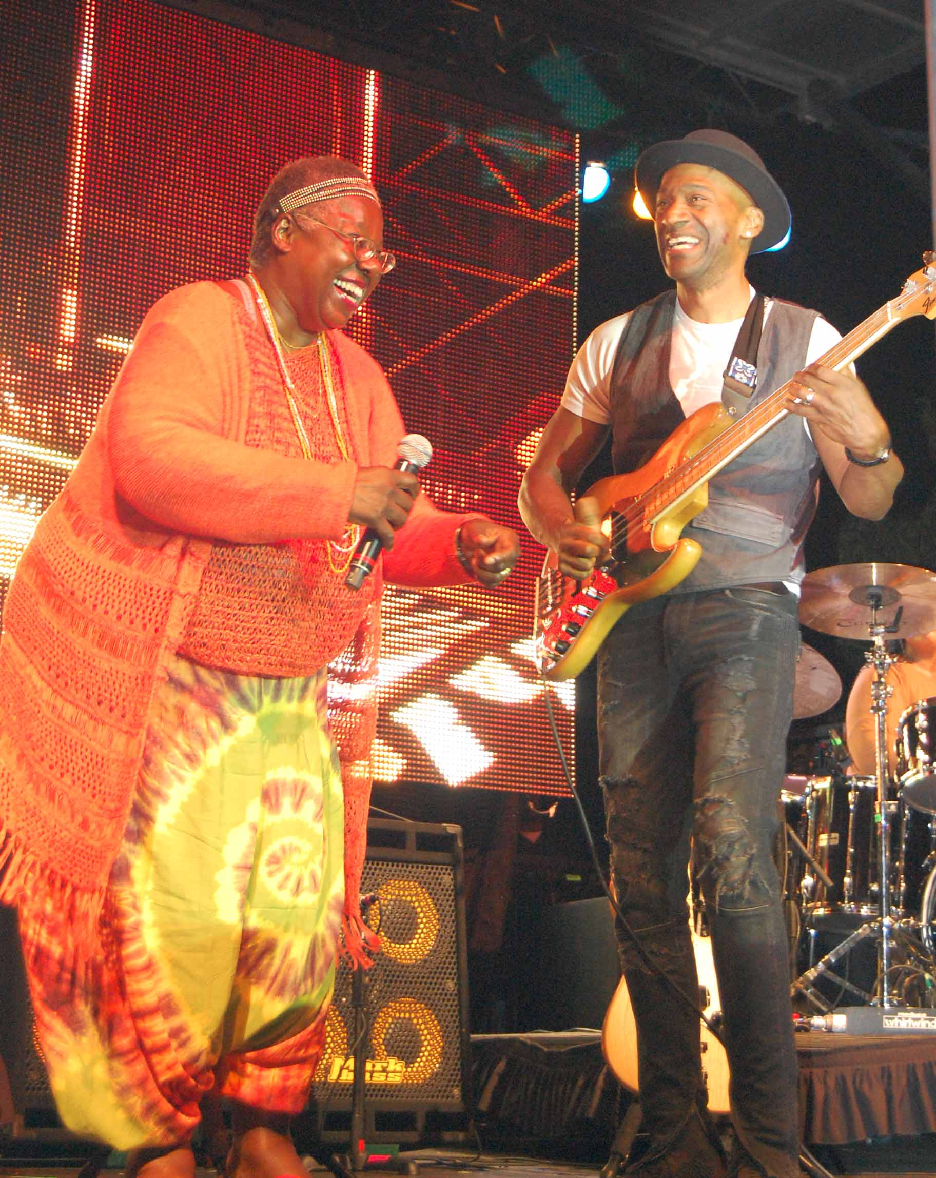 Randy Crawford and Marcus Miller. Photo by Kim Webster.